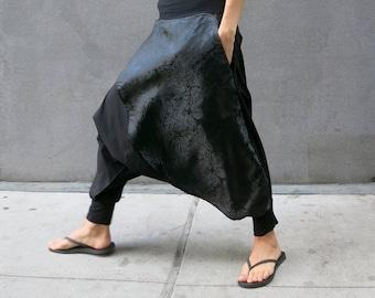 Steampunk Harem Pants, Men Harem Pants, Women Harem Pants, Low Crotch, Samurai Pants, Ninja, Burning Man Costume, Glorka, Extravagant Pants