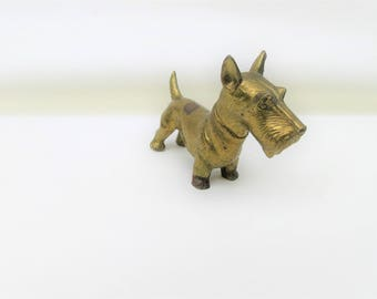 Vintage Brass Scotty Dog | Brass Dog | Scotty Dog Figurine