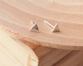 Triangle Stud Earrings - Tiny Stud Earrings - Geometric Jewellery - Small Triangle Earrings - Modern Stud Earrings