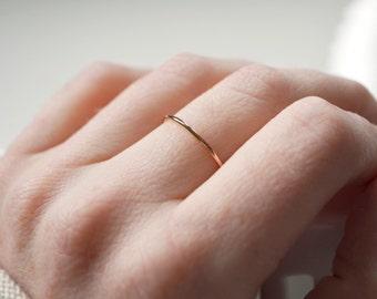 Thin Rose Gold Ring, Rose Gold Filled Ring, Stackable Gold Rings, Dainty Ring, Rose Gold Midi Ring