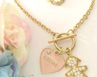 Pregnancy Gift, New Mom Gift, Girl Mom Gift, Mom of Girls, Mommy and Me Bracelet, Mom Bracelet, Mom Gift, Baby Shower Gift, Gold Stainless
