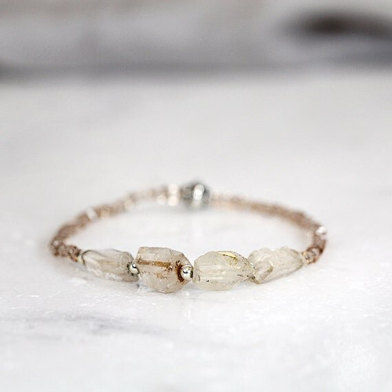 Raw Topaz Bracelet - November Birthstone Bracelet For Her