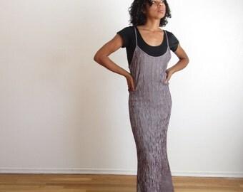 Striped thin strap maxi dress  90s slip dress