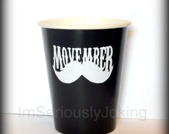 Movember party cups-hipster cups-mustache cups-Little Man Party-Little Man-movember