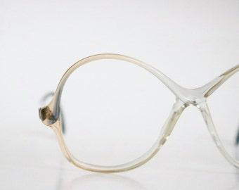 butterscotch fade eyeglass frames / vintage