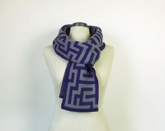 Puzzle scarf, science scarf, maths scarf, cute geeky scarf, merino wool scarf, for him, for her, warm scar, winter wool scarf, Australia