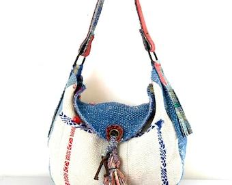kantha bag, kantha quilt hobo, reversible kantha hobo, slouch bag, reversible bag, kantha, kantha throw, kantha quilt