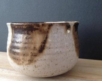 vintage pottery hanging planter pot