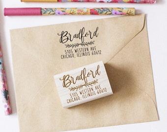 Return Address Stamp,  Personalized Address Stamp, Wedding Invitation Stamp, Custom Address Stamp, Calligraphy Stamp, Engagement Party