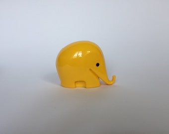 Vintage Colani Style Elephant Piggy Bank. Space Age. Yellow. German. Piggy Bank. Drumbo. Germany. 2017_017