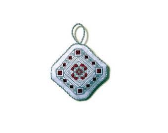 Embroidery Pattern - Ornate Byzantine-Style Embroidery/Cross Stitch Ornament Pattern (Electronic PDF Copy)