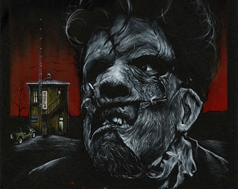 Leatherface 2  11 by 14 Art Print