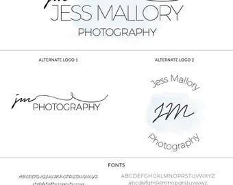 Photography Logo, Mini Branding Set, Photography Business Card, Pretty Cursive Modern Logo Set, Handwritten Script, Signature Logo, s119