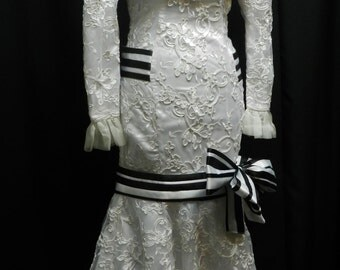 Inspired by My fair lady Eliza Doolittle white lace dress custom made to your size!