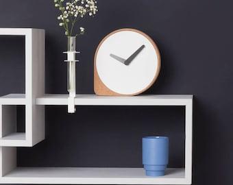 CLORK - Puik Art - Design - Amsterdam - Clock - Cork - Steel - Time - Natural - Hands - Simple - Inspiration - Clean - Elegant - Living room