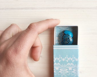 Turquoise Dragon in a Matchbox
