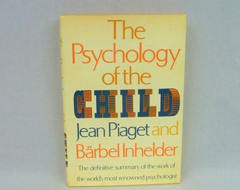 1969 The Psychology of the Child - Jean Piaget - Barbel Inhelder - Vintage 1960s Psychology Book