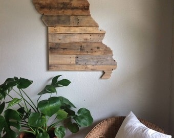 missouri state sign reclaimed wood pallet sign home decor wall art - Home Decor St Louis Mo