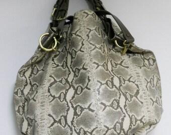 Mariella Python leather bag