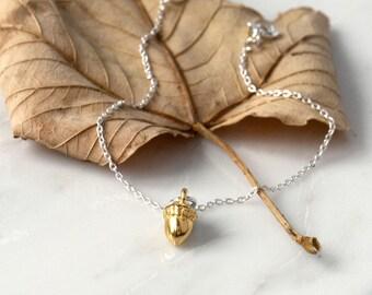 Gold Plated Acorn Bracelet