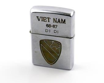 "Authentic 1960's Vietnam War ""1st Division Calvary"" Lighter"