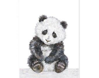Panda Nursery Print, Giclee, Baby Panda animal Print, Nursery Wall Art, Zoo Nursery Print, Panda Nursery Art, Panda Watercolor, Baby Panda