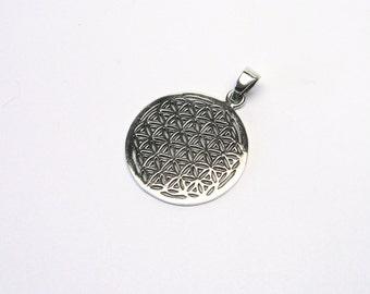 Beautiful flower of life pendant Silver 925
