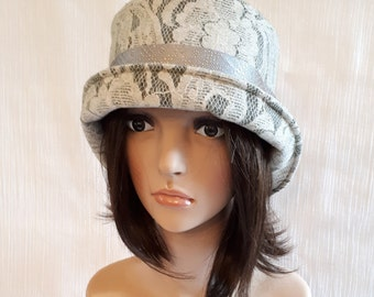 Hat Wool Lace / chic Hat / Hat designer / french Hat / Hat women's