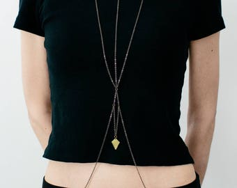 Body Chain in Gunmetal: Hunger II