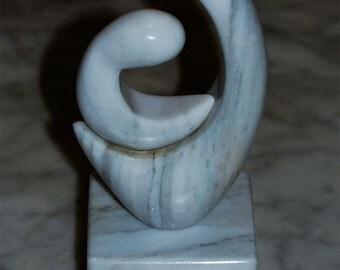 Parent and Child Marble Sculpture