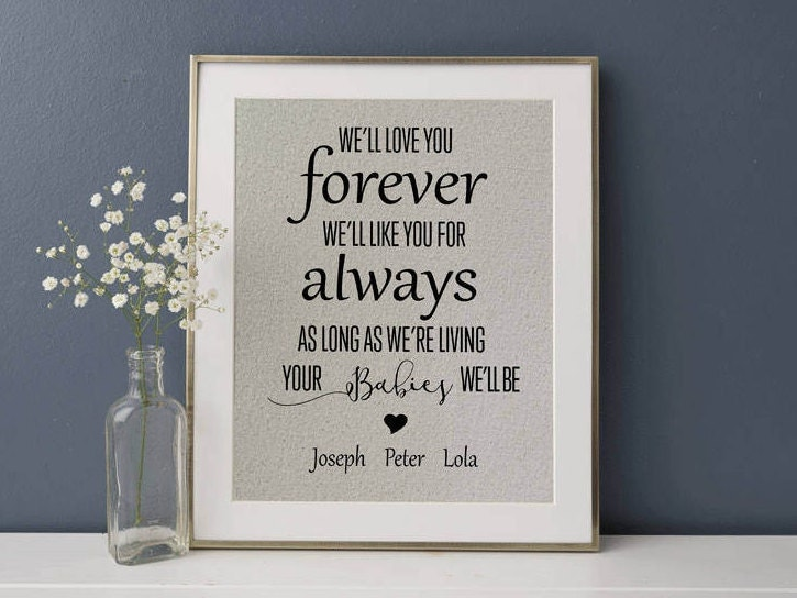 Well Love You Forever Like For Always Personalized Gift