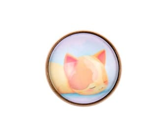Cat ring, kitty ring, adjustable ring, cat jewelery, cabochon ring, cute ring, love cat ring, funny ring, (2020B)