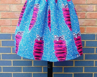 FARAI Elasticated Knee Length Skirt in  African Print, Ankara Skirt , African Fashion, African Clothing by Afrocentric805