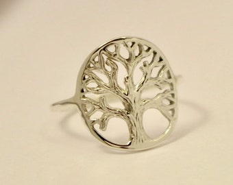 Tree of Life Ring, Sterling Silver Tree of Life Ring, Sterling Silver Thumb Ring, Sterling Silver knuckle ring, Silver Tree Of Life Ring