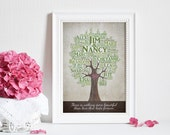 Custom Family Tree Print, Personalized 40th Anniversary Gift for Parents, 40th Wedding Anniversary Gift Ideas, Personalized Family Tree Art
