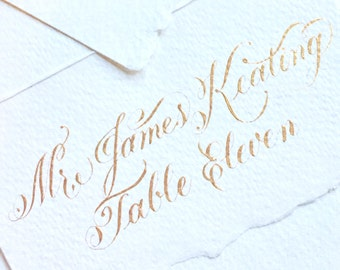 THE Love Script Wedding Place Cards