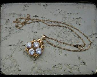 Beautiful Vintage dangle necklace necklace wedding bride prom beautiful Vintage dangle necklace