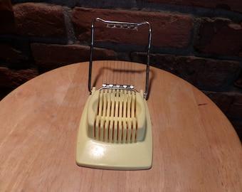 Vintage Yellow Egg Slicer, Ekco USA, Kitchen gadget,Kitchenware,Housewares,Egg cutter,Food Prep,Vintage Kitchen