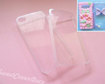 Decoden phone case base crystal clear iphone