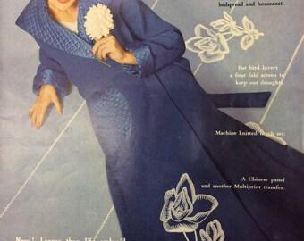 Vintage knitting sewing crochet patterns magazine Needlewoman and Needlecraft N0.77 1959