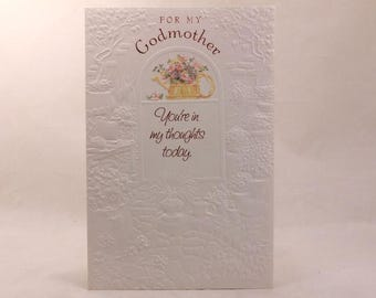 """NEW! Vintage Religious """"Godmother"""" Mother's Day by Dayspring. Single Greeting Card with Envelope."""