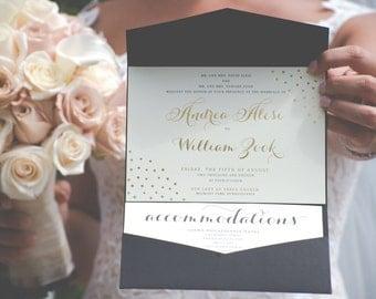 Gold Foil Wedding Invitation   Gold Foil Print   Wedding Invitation Gold   Wedding Invitation Gold Foil   Wedding Invitation Set   Packages