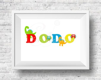 Personalized Kids name print, Digital file, Printable wall decor, Kids wall decor, nursery print, Kids wall hanger