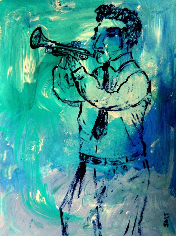 """Archival Giclee Print of Original Acrylic, Painting, """"MY DAD,'' by Hoosier Artist Stacey Torres"""
