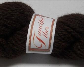 Handspun 100%  Alpaca Yarn 2 Ply  Dark Chocolate Brown  Super Bulky (G)