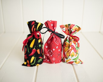 Gift Bags Fabric Unique Handmade Re-Gift