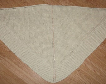 Knitted Virgin Wool Shawl