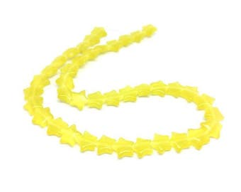 40 stars color yellow cat's eye beads