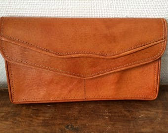 Vintage/brown/leather/clutch/wallet/tablet case/boho/hippie/folk/country/natural/Kindle Fire case/bohemian/true vintage/tomboy