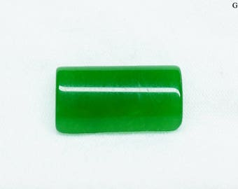 Green Rectangle Jade Cabochon 19x11 mm